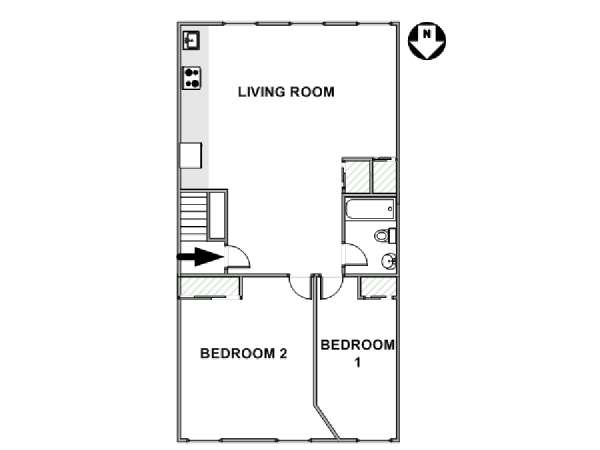 New York T3 logement location appartement - plan schématique  (NY-17631)