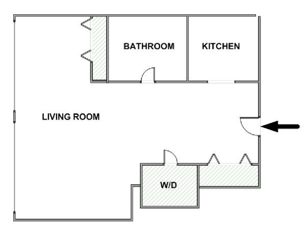 New York Studio apartment - apartment layout  (NY-17644)