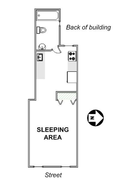 New York Studio apartment - apartment layout  (NY-17666)