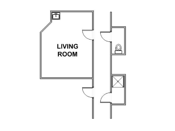 New York Studio roommate share apartment - apartment layout  (NY-17792)