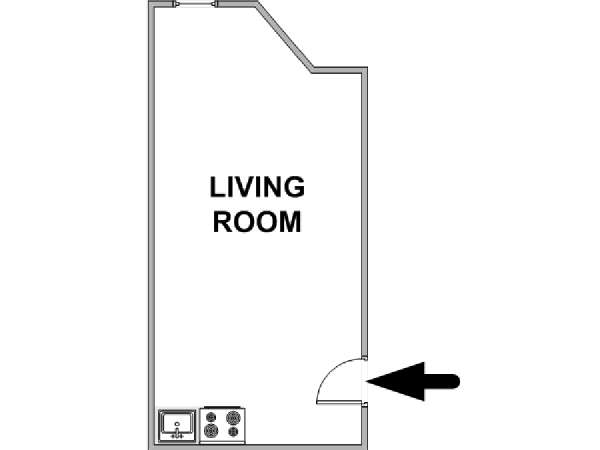 New York Studio roommate share apartment - apartment layout  (NY-17796)