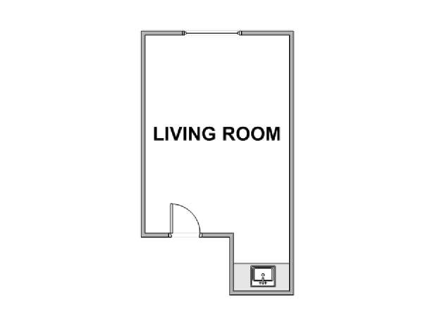 New York Studio roommate share apartment - apartment layout  (NY-17798)