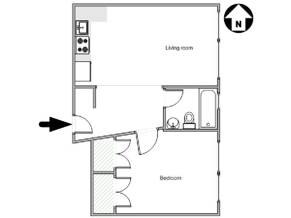 New York T2 logement location appartement - plan schématique  (NY-18012)