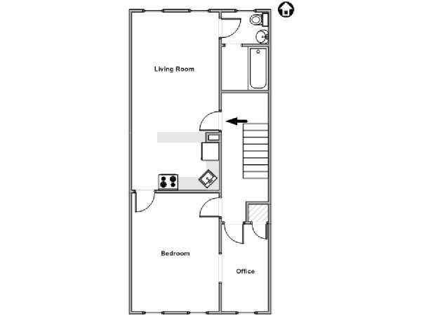 New York 1 Bedroom apartment - apartment layout  (NY-18046)