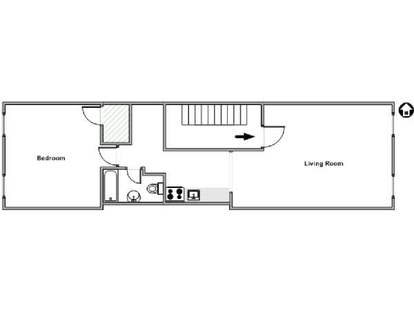 New York 1 Bedroom apartment - apartment layout  (NY-18103)