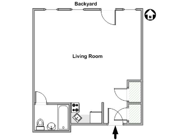 New York Studio apartment - apartment layout  (NY-18244)