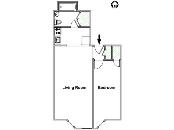 New York 1 Bedroom apartment - apartment layout  (NY-18251)