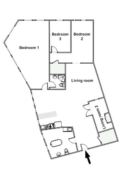 New York T4 - Loft logement location appartement - plan schématique  (NY-3756)
