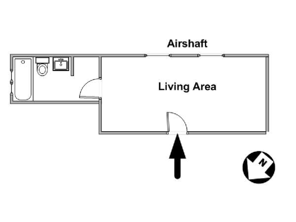 New York Studio accommodation - apartment layout  (NY-4062)