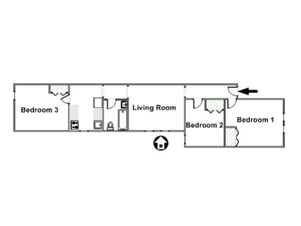 New York Apartment 3 Bedroom Apartment Rental In Woodside