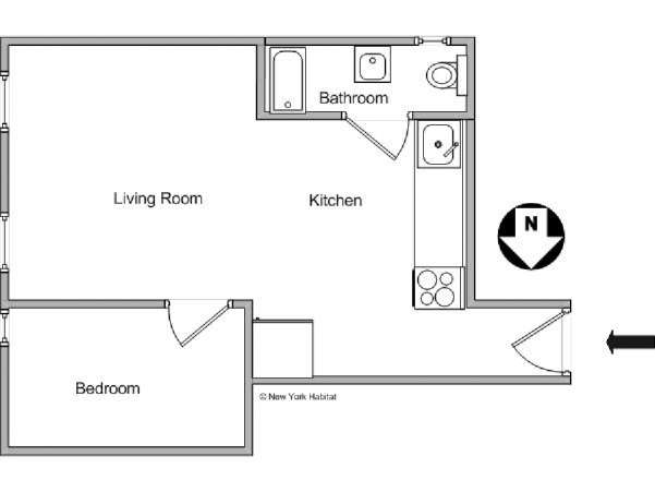 New York T2 logement location appartement - plan schématique  (NY-7142)