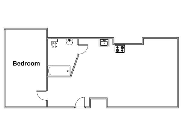 New York 1 Bedroom apartment - apartment layout  (NY-7353)