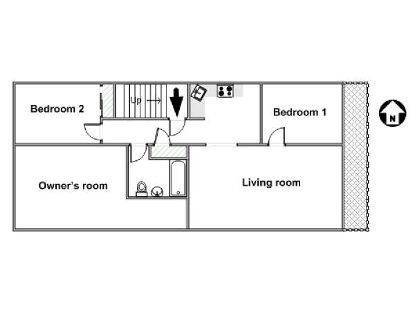 New York 3 Bedroom roommate share apartment - apartment layout  (NY-8482)