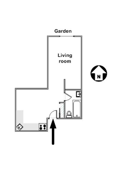 New York Studio T1 logement location appartement - plan schématique  (NY-8696)