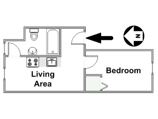 New York 1 Bedroom apartment - apartment layout  (NY-8880)