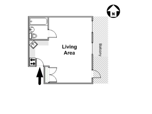 New York Studio apartment - apartment layout  (NY-9842)