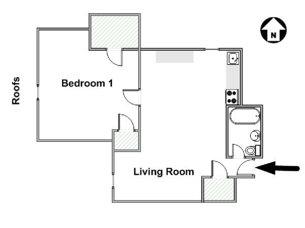 New York 1 Bedroom apartment - apartment layout  (NY-9847)