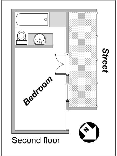 Paris 1 Bedroom - Duplex apartment - apartment layout 2 (PA-4021)