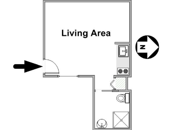 Paris Studio apartment - apartment layout  (PA-4405)