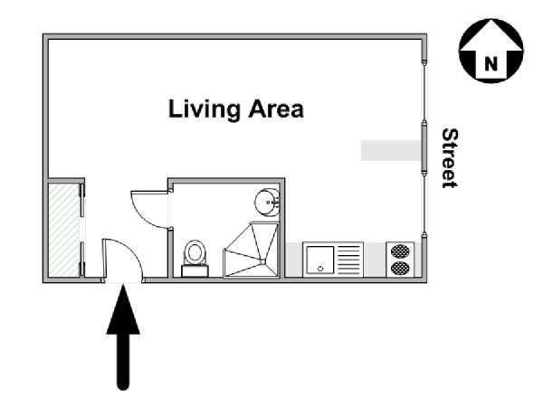 Paris Studio apartment - apartment layout  (PA-4496)
