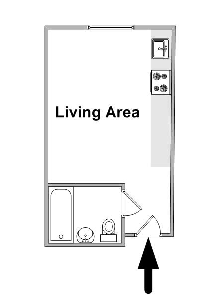 Paris Studio apartment - apartment layout  (PA-4660)