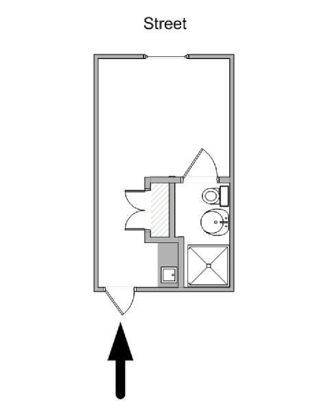 Paris Studio apartment - apartment layout  (PA-4662)