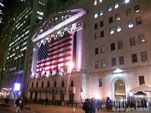 Financial District à New York. Photo de Wall Street.