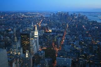 Tourisme et loisirs à New York. Photo de la vue du haut de l'Empire State Building