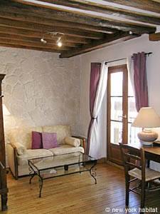 Location de vacances à Paris. Photo d'un appartement T2 dans le Marais, les Halles (PA-2286)