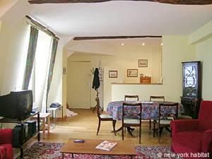 Location meublée à Paris. Photo d'un appartement T2 à la Sorbonne, Saint-Michel (PA-3236)