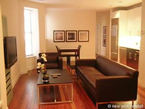 Location de vacances à New York. Photo d'un appartement T2 à Midtown West, Chelsea (NY-12442)
