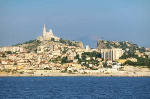 Photo : Marseille depuis la mer, Sud de la France