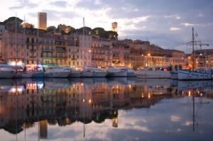 Photo : Port de Cannes de nuit