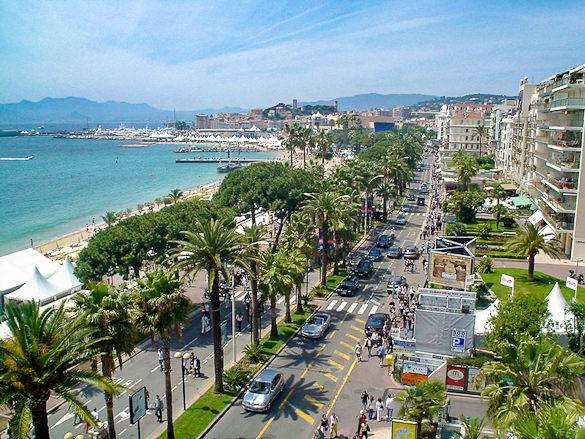 Photographie du boulevard de la Croisette à Cannes