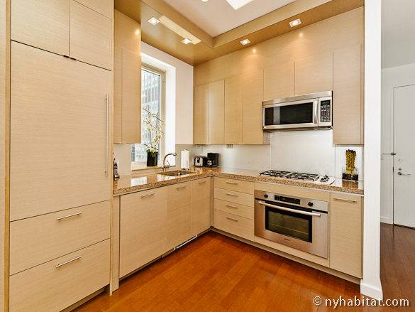 Photographie de la cuisine de l'appartement penthouse du Midtown West