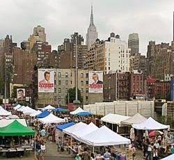 Photo du marché aux puces de Hell's Kitchen à New York