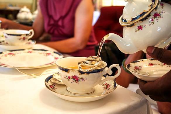 Photo d'un goûter dans le restaurant l'Orangery, Kensington