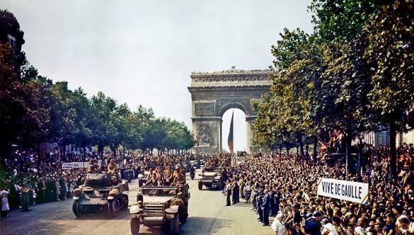 Image de la libération de Paris en août 1944