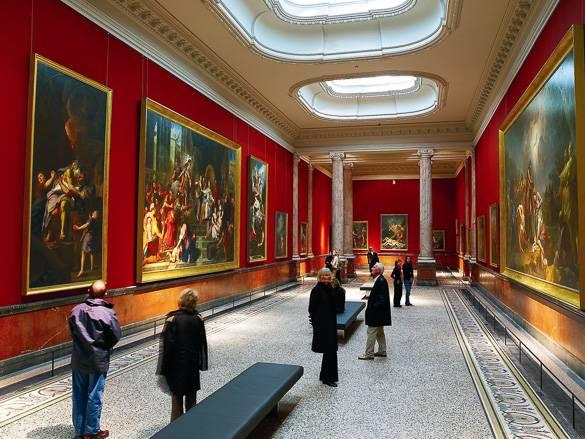 Photo d'une galerie du musée Fabre à Montpellier