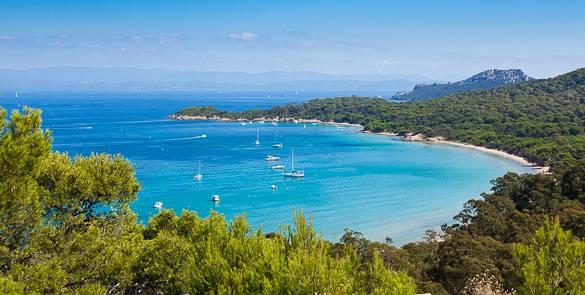 Image de l'île de Porquerolles sur la Côte d'Azur