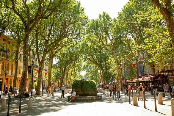 Photo du Cours Mirabeau à Aix-en-Provence