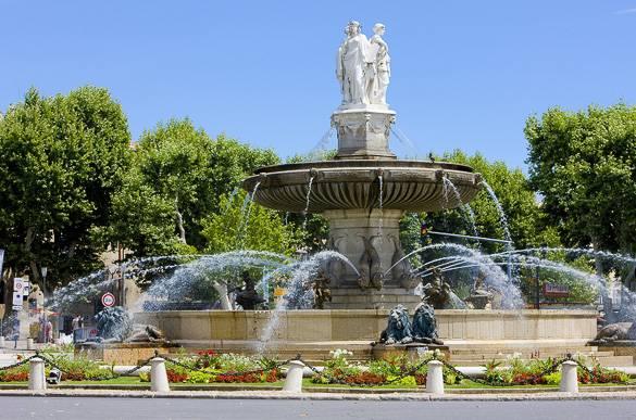 Photo de la Fontaine de la Place de la Rotonde à Aix-en-Provence