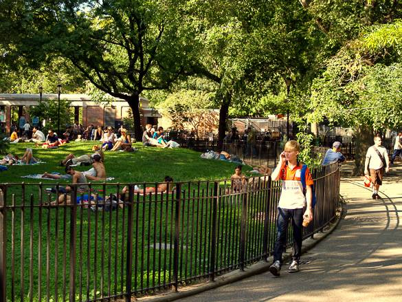 Photo du Tomkins Square Park, situé dans l'East Village
