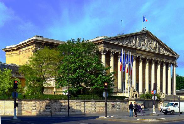 Photo de l'Assemblée nationale à Paris