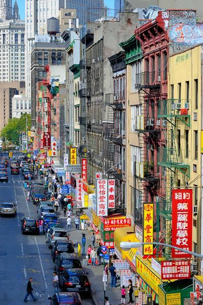 Photo du quartier chinois de Lower Manhattan, à New York