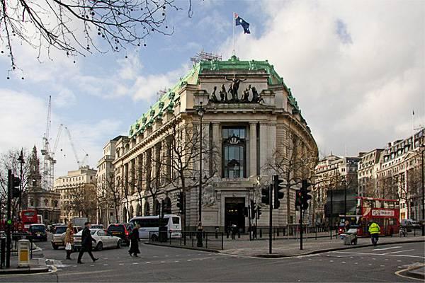 Photo de l'ambassade d'Australie de Londres, utilisée pour représenter Gringotts
