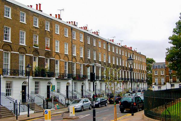 Photo de Claremont Square à Londres, ou Grimmauld Place dans les films d'Harry Potter