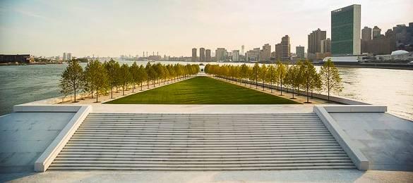 Photo du Franklin D. Roosevelt Four Freedoms Park à New York.