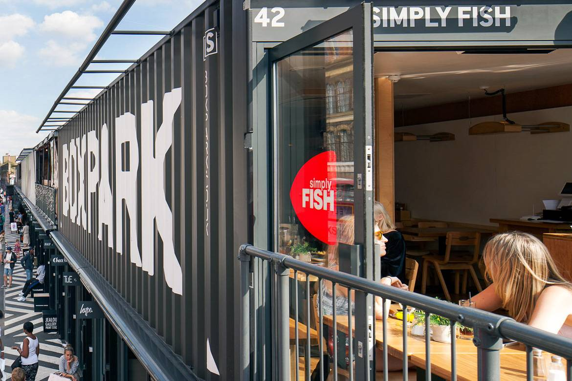 Photo de Boxpark à Hackney