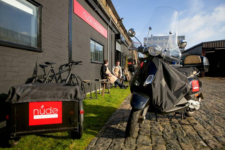 Photo de l'extérieur du café Nude Espresso, à Londres